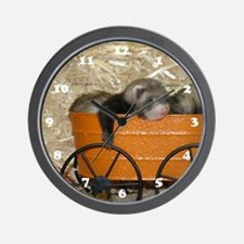 Baby Ferret Wall Clock #3