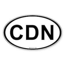 Int'l Country Code Oval Sticker: Canada (CDN) Stic