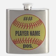 Personalized Fastpitch Softball Flask