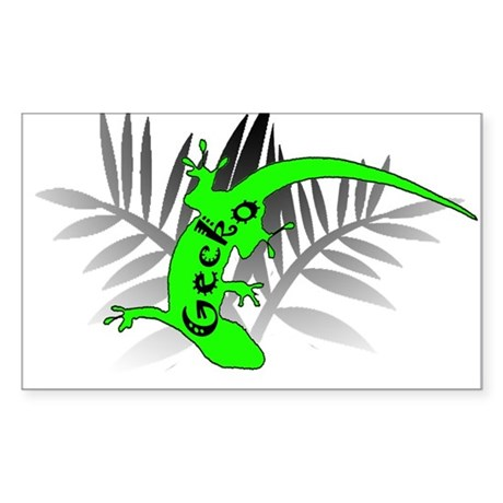 Gecko Habitat Sticker (Rectangle)