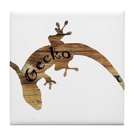 Wooden Gecko Tile Coaster