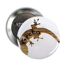 "Wooden Gecko 2.25"" Button"