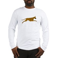 Leaping Brindle Great Dane Long Sleeve T-Shirt