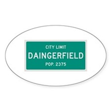 Daingerfield, Texas City Limits Decal