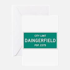 Daingerfield, Texas City Limits Greeting Card