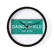 Daingerfield, Texas City Limits Wall Clock