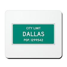 Dallas, Texas City Limits Mousepad
