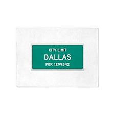 Dallas, Texas City Limits 5'x7'Area Rug