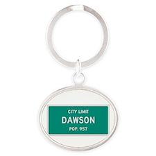 Dawson, Texas City Limits Oval Keychain