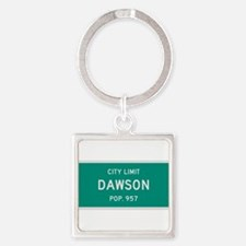Dawson, Texas City Limits Square Keychain