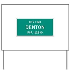 Denton, Texas City Limits Yard Sign