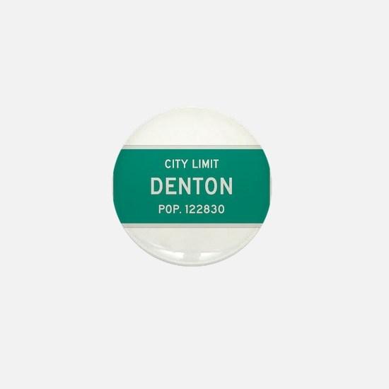 Denton, Texas City Limits Mini Button