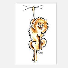 Clingy Orange Pomeranian Postcards (Package of 8)