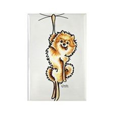 Clingy Orange Pomeranian Rectangle Magnet