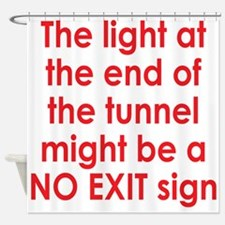 Light at end of the Tunnel Shower Curtain