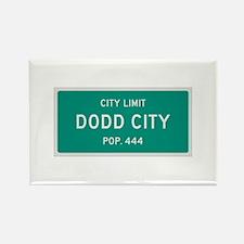 Dodd City, Texas City Limits Rectangle Magnet