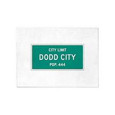Dodd City, Texas City Limits 5'x7'Area Rug