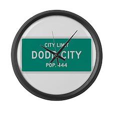 Dodd City, Texas City Limits Large Wall Clock