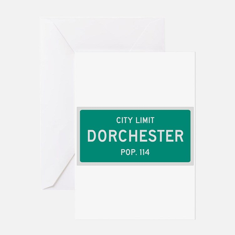 Dorchester, Texas City Limits Greeting Card