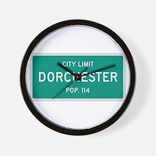Dorchester, Texas City Limits Wall Clock