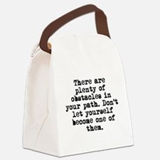 Plenty Of Obstacles Canvas Lunch Bag