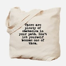 Plenty Of Obstacles Tote Bag