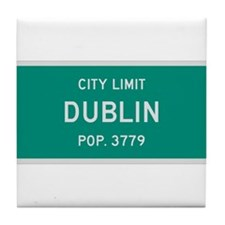 Dublin, Texas City Limits Tile Coaster