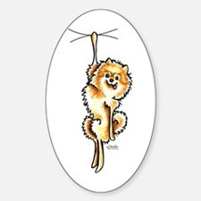 Clingy Orange Pomeranian Decal