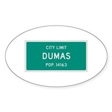 Dumas, Texas City Limits Decal