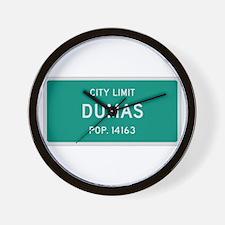 Dumas, Texas City Limits Wall Clock