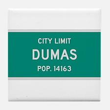 Dumas, Texas City Limits Tile Coaster