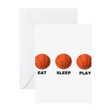 Basketball EAT SLEEP PLAY LITE Greeting Card