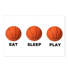 Basketball EAT SLEEP PLAY LITE Postcards (Package