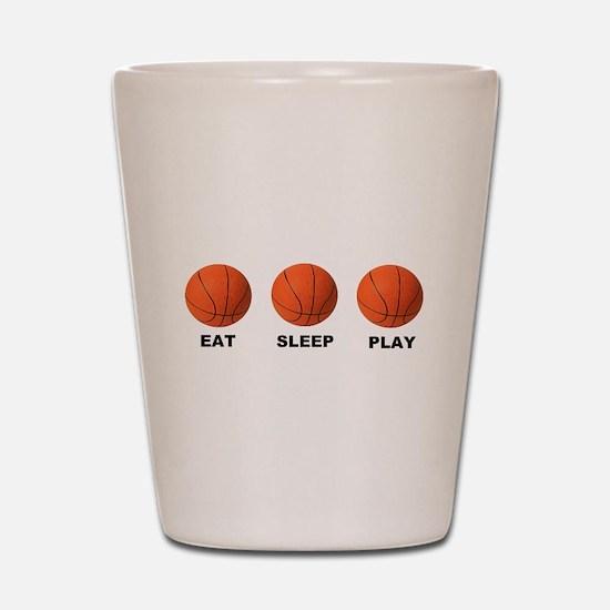 Basketball EAT SLEEP PLAY LITE Shot Glass