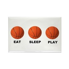 Basketball EAT SLEEP PLAY LITE Rectangle Magnet