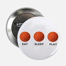 """Basketball EAT SLEEP PLAY LITE 2.25"""" Button (10 pa"""