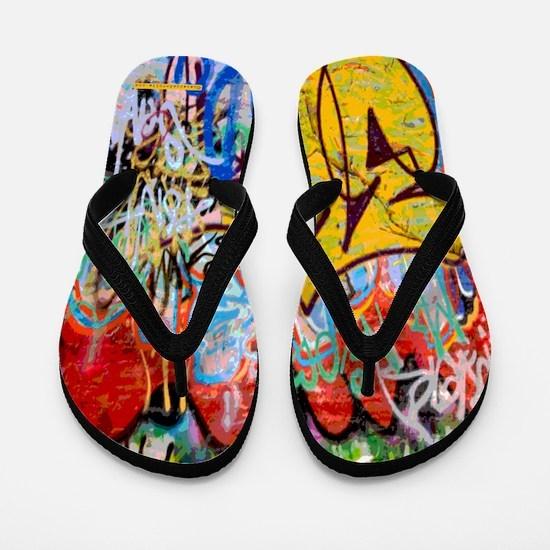 Colorful Graffiti Flip Flops