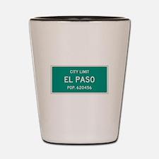El Paso, Texas City Limits Shot Glass