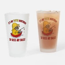 Cute Fisherman t Drinking Glass