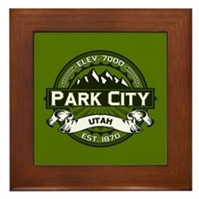 Park City Olive Framed Tile