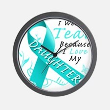 I Wear Teal Because I Love My Daughter Wall Clock