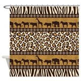 Safari shower curtain Shower Curtains