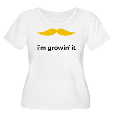 I'm Growin' It Women's Plus Size Scoop Neck T-Shir