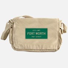Fort Worth, Texas City Limits Messenger Bag