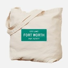 Fort Worth, Texas City Limits Tote Bag