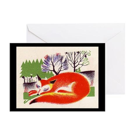 sleeping fox Greeting Cards (Pk of 10)