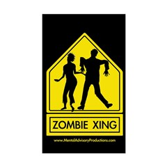 ZOMBIE XING Rectangle Decal