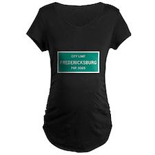 Fredericksburg, Texas City Limits Maternity T-Shir