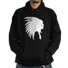 Indian Headdress Outline Hoodie
