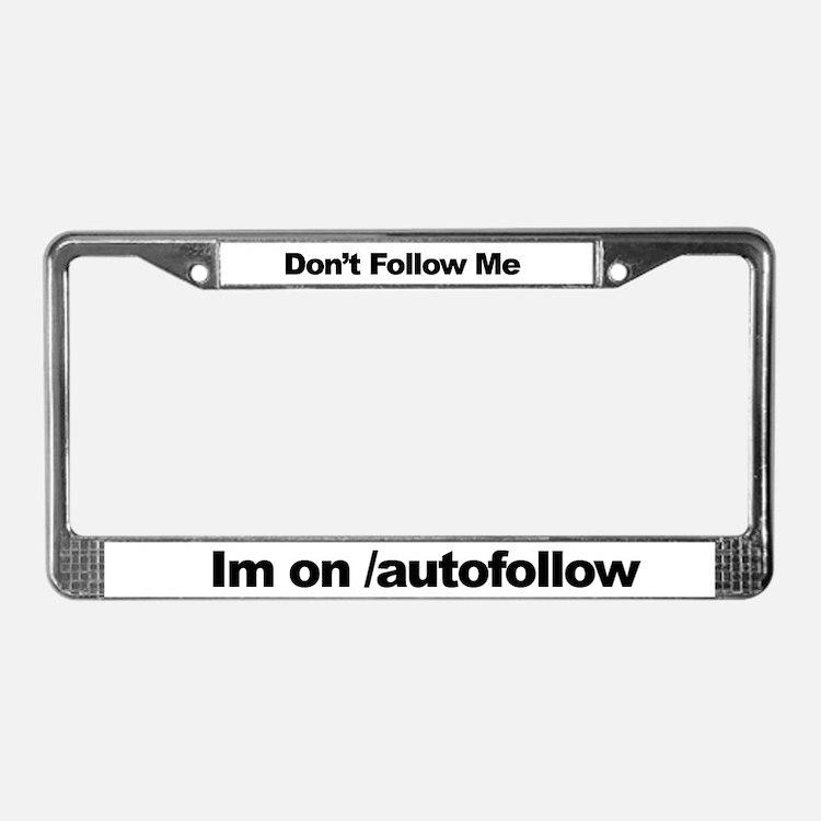 Autofollow License Plate Frame